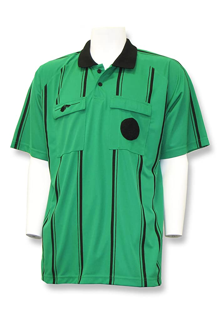 謙虚ないちゃつくチャットwhistleline Soccer Referee Short Sleeve Jersey