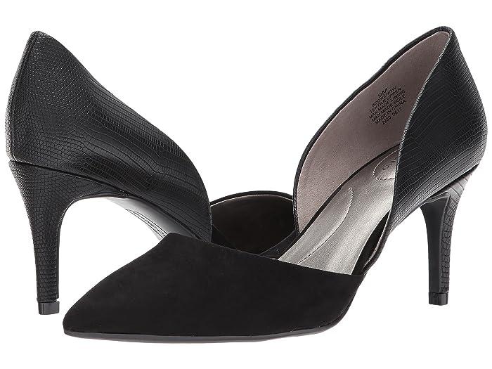 Bandolino  Grenow DOrsay Pump (Black Reptile Synthetic/Faux Suede) Womens Shoes