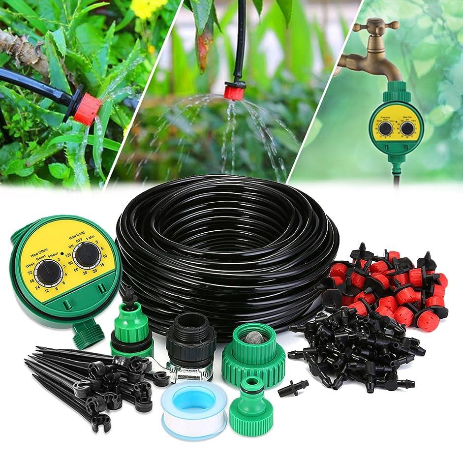 免除影ジョブKING DO WAY 自動散水タイマーセット 点滴灌漑 25mホース 自動水やりシステム 散水用具 ガーデニング 家庭 芝生 庭木 盆栽 灌漑 水やり用