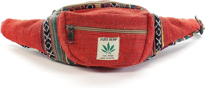 Hemp Waist Bag - Red excellence Soldering