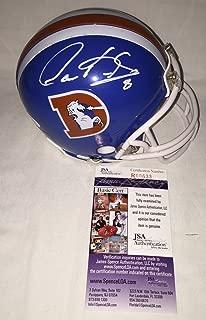Gary Kubiak Signed / Autographed Denver Broncos Mini Football Helmet - JSA Certified