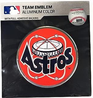 Houston Astros CE4 Retro Logo Color Metal Raised Auto Emblem Decal Baseball