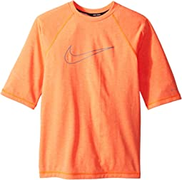 Nike Kids Heather Swoosh Half Sleeve Hydroguard (Big Kids)