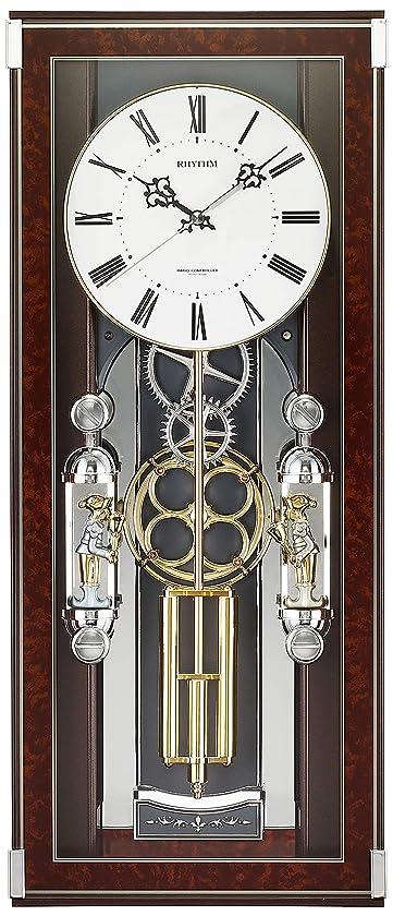 キャリアアイザック任命する掛け時計 電波時計 からくり時計 メロディ付き ソフィアレープリモ リズム時計 4MN535SR23