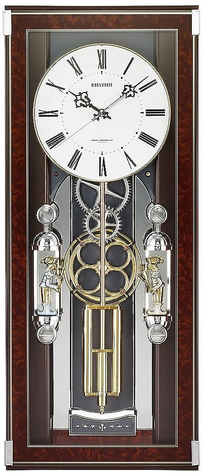 掛け時計 電波時計 からくり時計 メロディ付き ソフィアレープリモ リズム時計 4MN535SR23