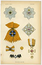 Antique Print-ORDER OF THE BLACK EAGLE-PRUSSIA-GERMANY-PLATE 65-Burke-1858