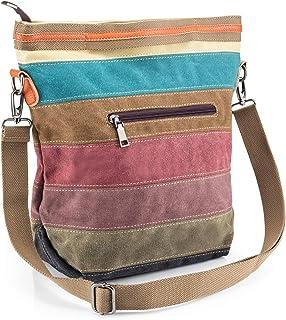New Boho Women Shoulder Hippie Stripe Bag Handbag Embroidered Boho Summer Bag Uk