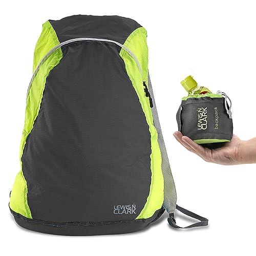 7e591743fc1 Lewis N Clark ElectroLight Multipurpose Travel Lightweight Backpack for  Women + Men Packable Daypack, Hiking