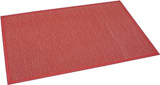 Estores Basic Living Color Vinilo, Rojo, 120x180cm, Antideslizante, Alfombra para salón Modernas, Cereza
