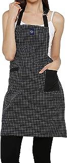 Encasa Homes regulowany fartuch kuchenny z kieszeniami i uchwytem na ręczniki - 89 x 63 cm - bawełna z recyklingu, do domu...