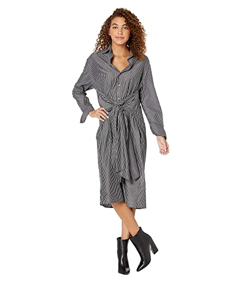 MM6 Maison Margiela Striped Midi Shirtdress