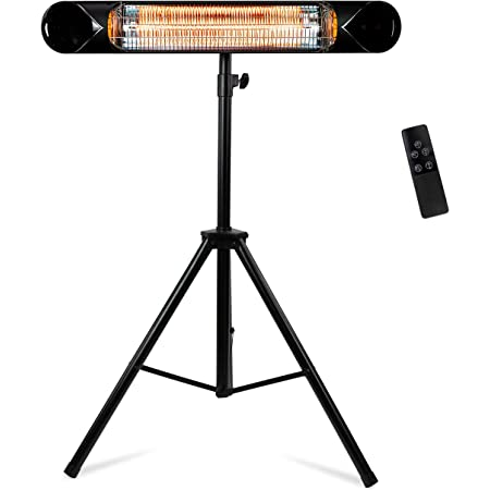 Briza Infrared Patio Heater - Electric Patio Heater - Outdoor Heater - Indoor/Outdoor Heater - Wall Heater - Garage Heater - Portable Heater - 1500W - use with Stand - Mount to Ceiling/Wall