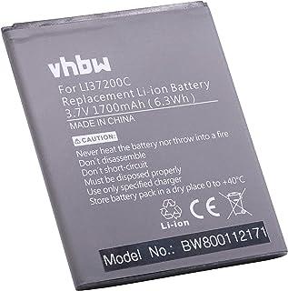 vhbw Li-Ion batería 1700mAh (3.7V) para teléfono móvil Smartphone Hisense HS-U970, HS-U970E-8, HS-U971, HS-U971AE, T970, U966, U970 por LI37200C.