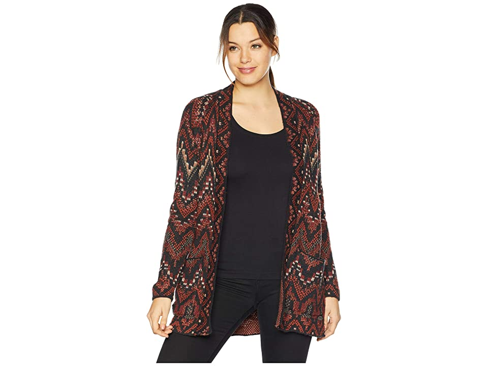 Lucky Brand Long Cardigan Sweater (Red Multi) Women
