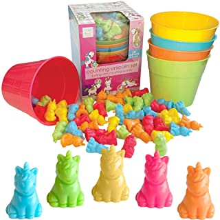 Hapinest Unicorn Colour Sorting and Counting Activity Set - Educational Learning Games for Toddlers Preschool Ages 4 Years...