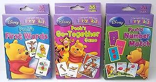 Flash Game Cards Winnie Pooh Go Together, First Words & Number Match Bundle Set