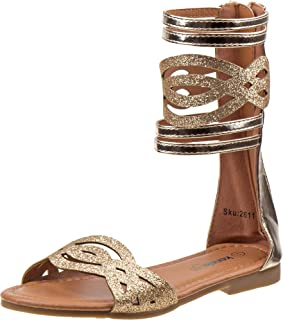 39ef19c7a2e Kensie Girl Fashion Gladiator Sandals with Shiny Glitter Straps (Little Kid Big  Kid)