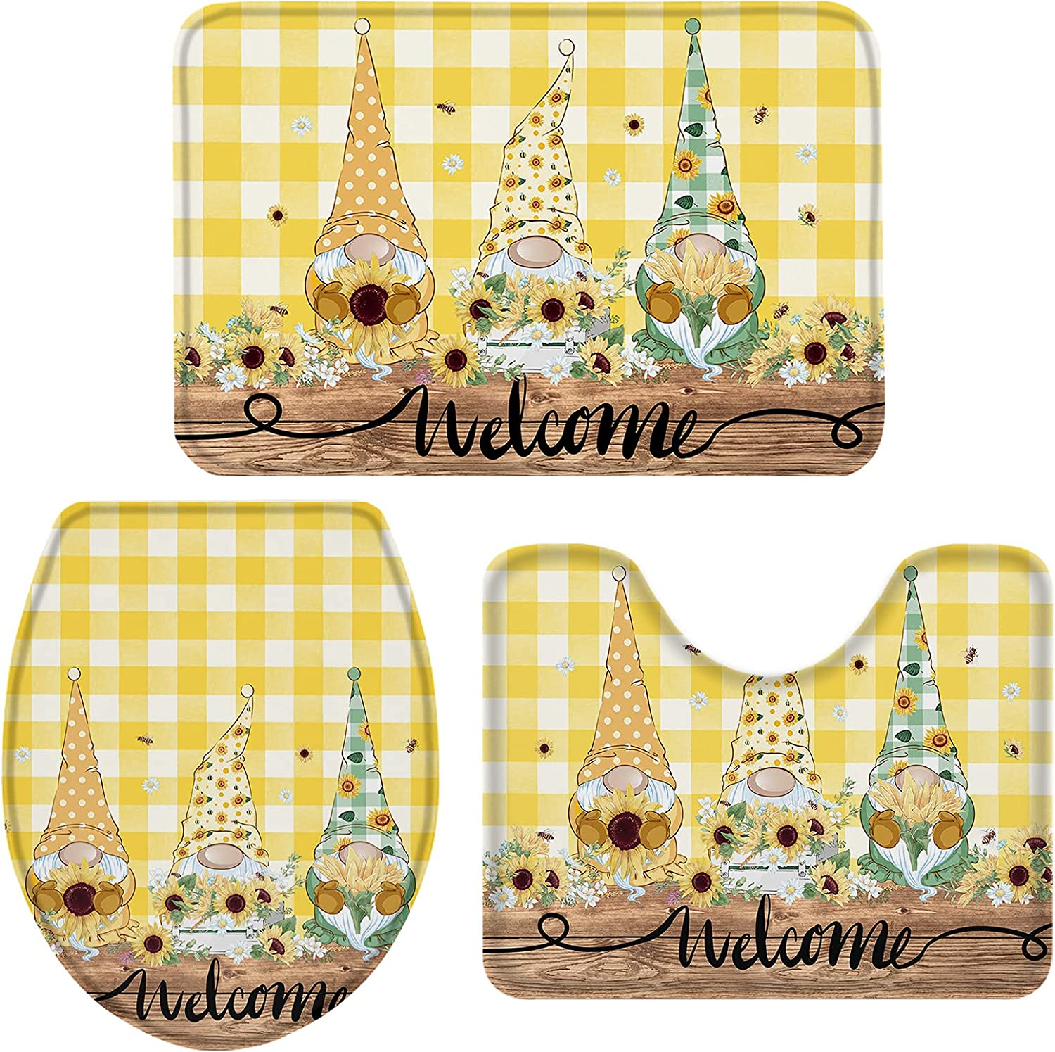 Bathroom Rugs and Mats Sets Small Fresh Free Shipping Reservation New Bee Sprin Gnomes Summer