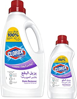 Clorox Clothes Stain Remover Color Booster 1.8 Litres with Clorox Clothes Ultra Stain Remover White 500 mililitres