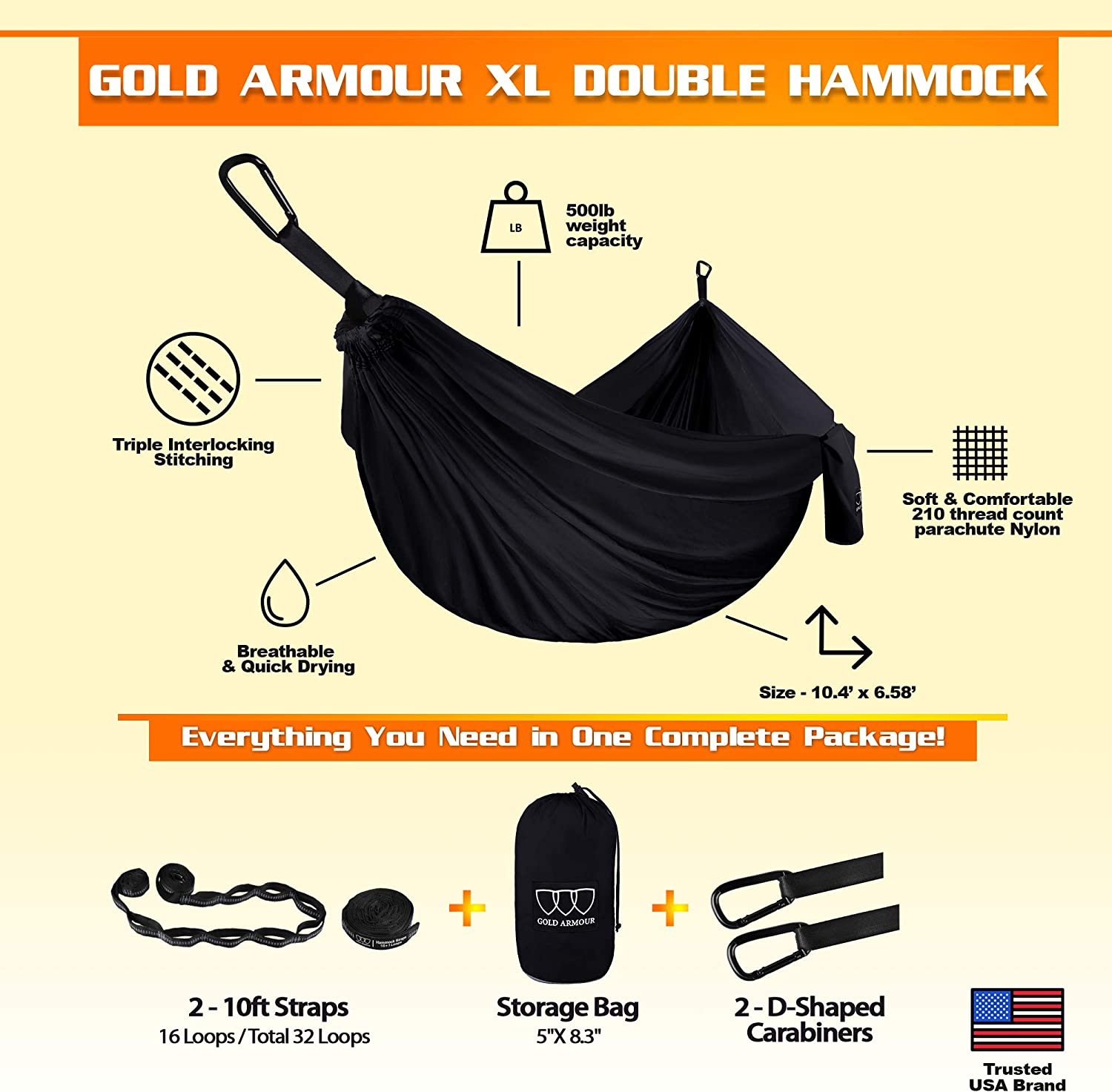 Camping Furniture Camping Accessories Gear 2 Tree Straps 32 Loops ...