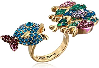 Betsey Johnson (GBG) Women's Pave Fish Ring Size 7.5, Multi