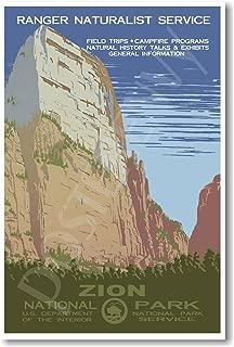 Zion National Park Utah - NEW Vintage World Travel Artwork Poster