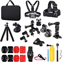 AIRON K-2 Action Camera Accessories Kit Compatible With Gopro Hero 7 6 5 4 3/3+ 2 1 2018 Black/Session/Fusion/DJI OSMO Action/AKASO/Campark/SJACM with Carrying Case