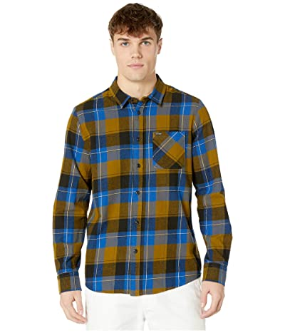 Volcom Caden Plaid Long Sleeve (Sonic Green) Men