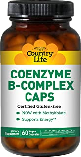 COUNTRY LIFE Vitamins CO-Enzyme B-Complex, 60 VCAP