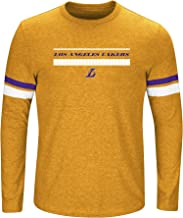 NBA Los Angeles Lakers Long Sleeve Screen Print Tee, Gold Heather/Purple, 3X/Tall