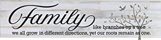 LifeSong Milestones Family Like Branches On A Tree Decorative Wall Sign for Living Room entryway, Kitchen, Bedroom,Office, Wedding Ideas (Distressed White Plank)