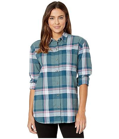 Eddie Bauer Stines Boyfriend 2.0 Flannel Shirt (Sage) Women