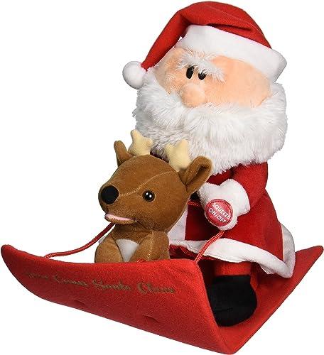 Chantilly Lane Santa & Reindeer Duet Plush by Chantilly Lane