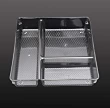 Store2508® Clear Acrylic Organiser Tray with 3 Compartments (23 * 23 * 5 cm) (Pack of 1)