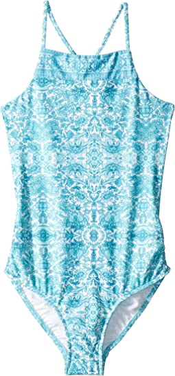 Ocean Tapestry Tank One-Piece (Little Kids/Big Kids)