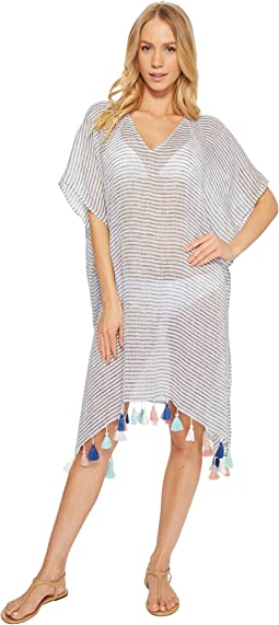 Seafolly Bali Hai Linen Stripe Kaftan Cover-Up