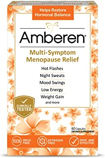 Amberen: Safe Multi-Symptom Menopause Relief. Clinically Shown to Relieve 12 Menopause Symptoms: Hot Flashes, Night Sweats...