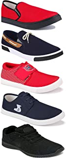 WORLD WEAR FOOTWEAR Sports Running Shoes/Casual/Sneakers/Loafers Shoes for Men Multicolor (Combo-(5)-1219-1221-1140-417-1217)
