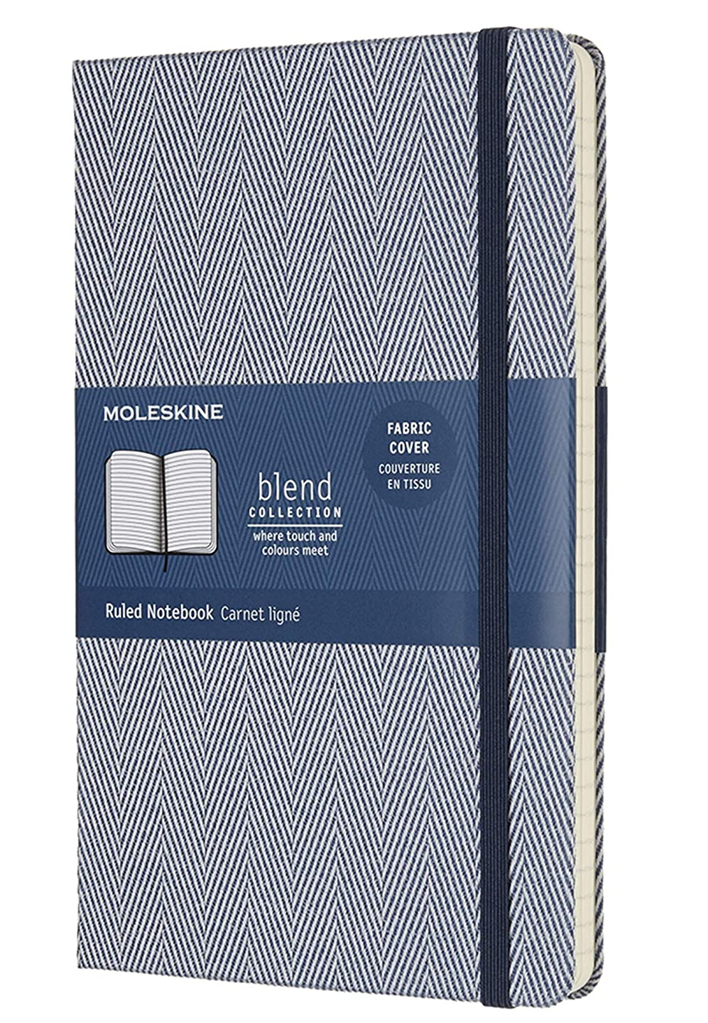 雇用者演劇国籍Moleskine Limited Edition Blend Collection Notebook, Large, Ruled, Blue (5 x 8.25)