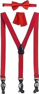 Gioberti Men's Convertible Suspenders, Bow Tie, and Hanky Set