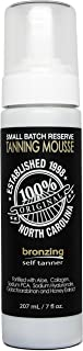 Dark Tanning Mousse w/Instant Bronzer by Famous Dave's | Sunless Self Tanner | Organic & Natural Ingredients for Medium/Da...