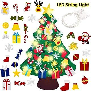 comprar comparacion El árbol de Navidad del Fieltro de los 3.3FT DIY fijó + los Ornamentos Desmontables 30pcs, Regalos Colgantes de Navidad de...