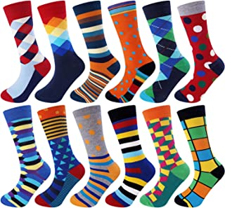 Jielucix, Calcetines Hombre Algodon Dibujos Divertidos con Dibujos Calcetines de Colores de Moda Calcetines Ciclismo Hombres Originales