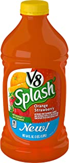V8 Splash Orange Strawberry, 64 oz (Pack of 6)