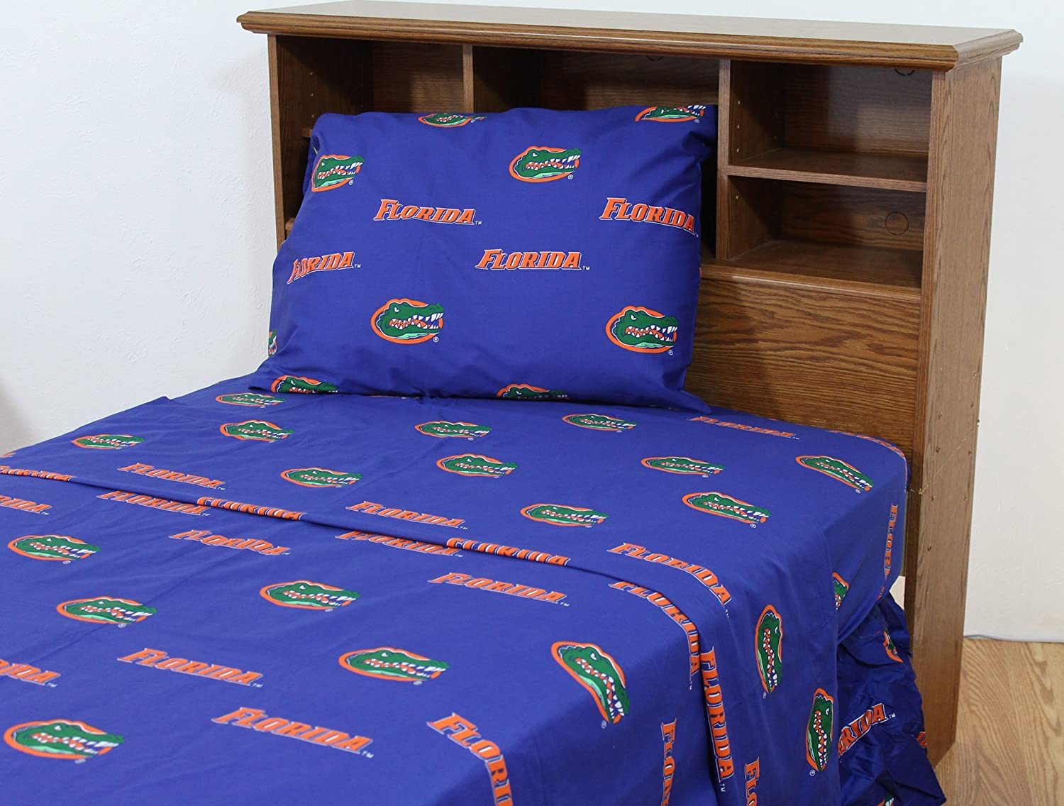 College Year-end gift Covers Florida Gators Multicolor Set Attention brand Sheet King