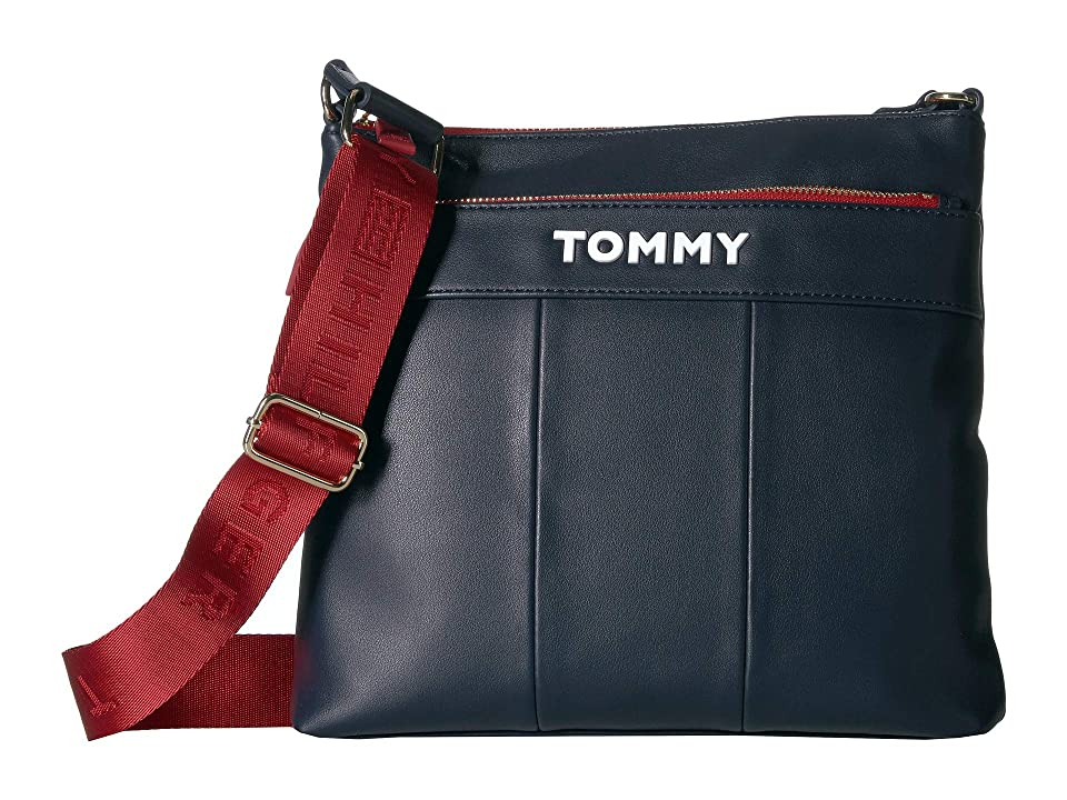 Tommy Hilfiger Peyton Large North/South Crossbody (Tommy Navy) Handbags