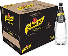 Schweppes Soda Water, 12 x 1.1L