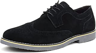 Beau Mens Dress Shoes Genuine Suede Wing Tip Brogue Lace Up Oxfords