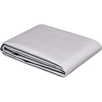 AmazonCommercial Multi Purpose Waterproof Poly Tarp Cover, 8 X 10 FT, 16MIL Thick, Silver/Black, 1-Pack