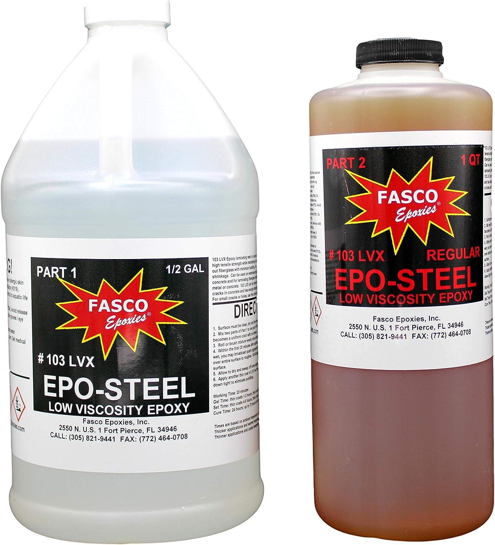 Fasco Epoxies Recommendation #103LVX 2:1 Popular popular Marine Epoxy for Clo Grade Fiberglass